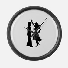 Standard dancing couple Large Wall Clock