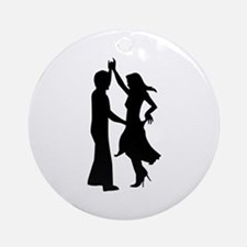 Standard dancing couple Round Ornament