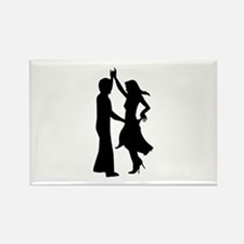 Standard dancing couple Rectangle Magnet