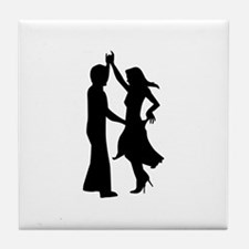 Standard dancing couple Tile Coaster
