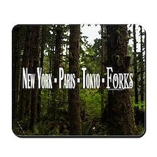 New York- Paris- Tokyo- Forks Mousepad