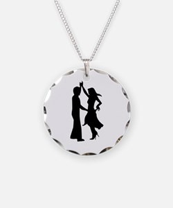 Standard dancing couple Necklace