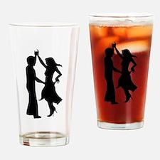 Standard dancing couple Drinking Glass