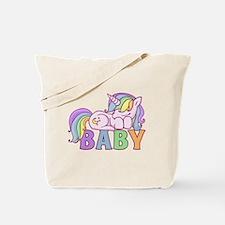 Cool Unicorn pooping rainbow Tote Bag
