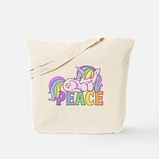 Unicorn pooping rainbow Tote Bag