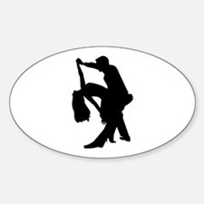 Dancing couple Sticker (Oval 10 pk)
