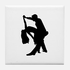 Dancing couple Tile Coaster