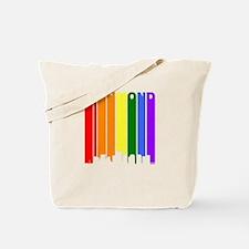 Richmond Gay Pride Rainbow Cityscape Tote Bag
