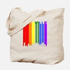 Nashville Gay Pride Rainbow Cityscape Tote Bag