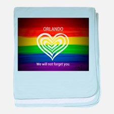 ORLANDO WE WILL NOT FORGET YOU baby blanket