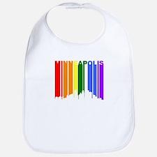 Minneapolis Gay Pride Rainbow Cityscape Bib