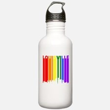 Louisville Gay Pride Rainbow Cityscape Water Bottl