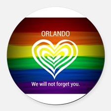 ORLANDO WE WILL NOT FORGET YOU Round Car Magnet