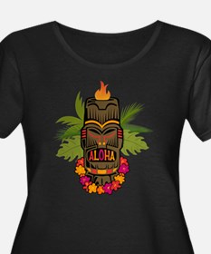 Tiki Aloha Women's Scoop Neck Plus Size T-Shir