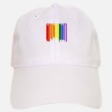 Cincinnati Gay Pride Rainbow Cityscape Baseball Ca