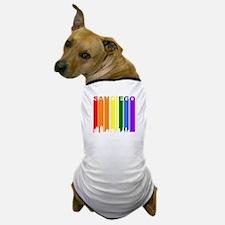San Diego Gay Pride Rainbow Cityscape Dog T-Shirt