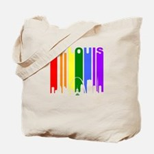 St Louis Gay Pride Rainbow Cityscape Tote Bag