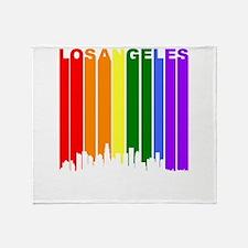 Los Angeles Gay Pride Rainbow Cityscape Throw Blan