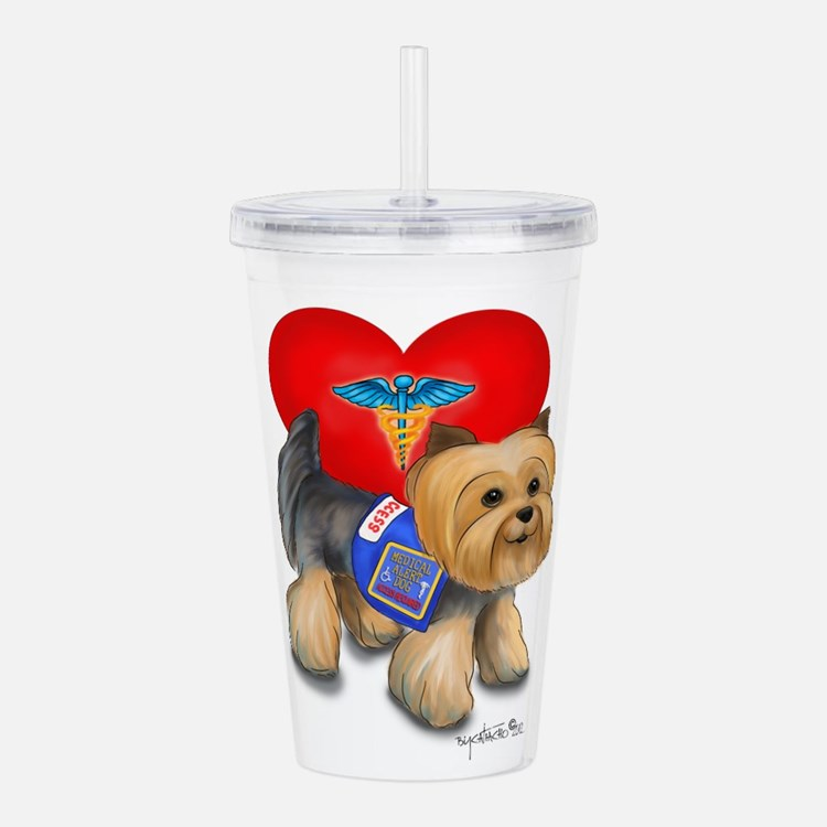 Medical AlertYorkie Acrylic Double-wall Tumbler