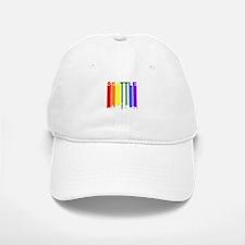Seattle Gay Pride Rainbow Cityscape Baseball Baseball Baseball Cap