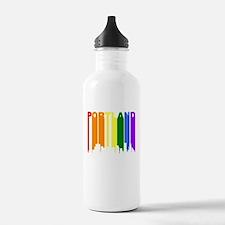 Portland Gay Pride Rainbow Cityscape Water Bottle