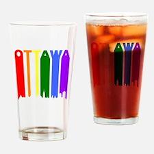 Ottawa Gay Pride Rainbow Cityscape Drinking Glass