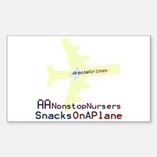 Snacks on a Plane Rectangle Decal