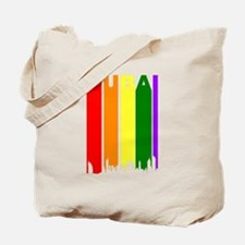 Dubai Gay Pride Rainbow Cityscape Tote Bag