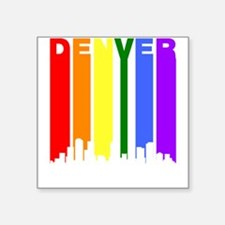 Denver Gay Pride Rainbow Cityscape Sticker