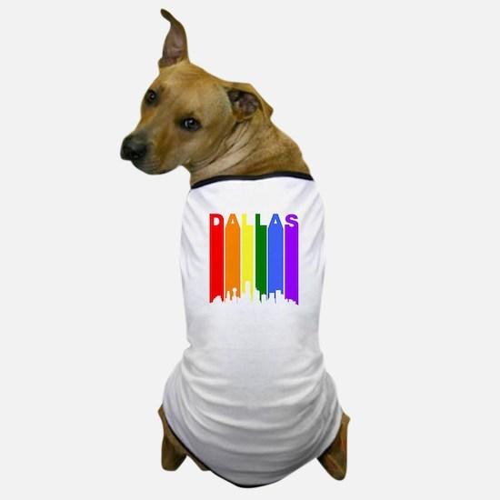Dallas Gay Pride Rainbow Cityscape Dog T-Shirt