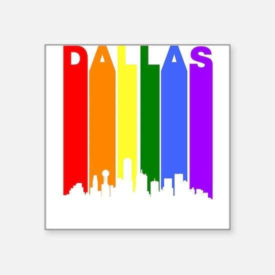 Dallas Gay Pride Rainbow Cityscape Sticker