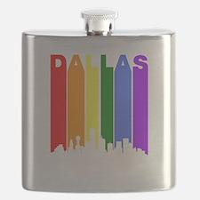Dallas Gay Pride Rainbow Cityscape Flask