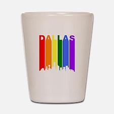 Dallas Gay Pride Rainbow Cityscape Shot Glass
