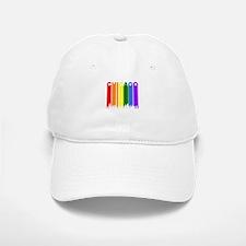 Chicago Gay Pride Rainbow Cityscape Baseball Baseball Baseball Cap