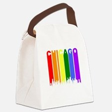 Chicago Gay Pride Rainbow Cityscape Canvas Lunch B