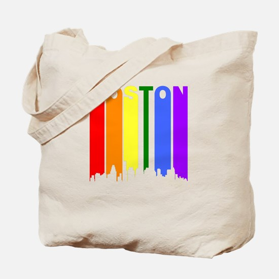 Boston Gay Pride Rainbow Cityscape Tote Bag