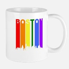 Boston Gay Pride Rainbow Cityscape Mugs