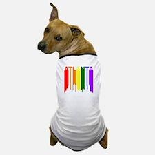Atlanta Gay Pride Rainbow Cityscape Dog T-Shirt