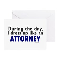 Dress Up Like An Attorney Greeting Cards (Pk of 10