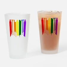 Atlanta Gay Pride Rainbow Cityscape Drinking Glass