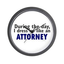 Dress Up Like An Attorney Wall Clock