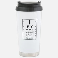 Cute Eye chart Travel Mug