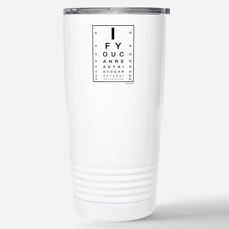 Cute Eye chart Travel Mug