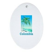 Colombia Oval Ornament