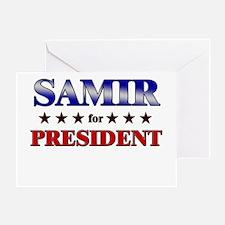SAMIR for president Greeting Card