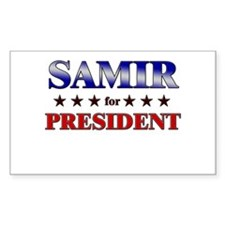 SAMIR for president Rectangle Decal