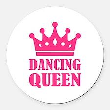 Dancing queen Round Car Magnet