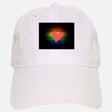 heart gay rainbow art Baseball Baseball Cap