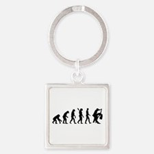 Evolution dancing couple Square Keychain