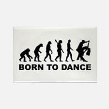 Evolution dancing born to dance Rectangle Magnet